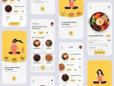Best Ui Design, Ux Design, Delivery App, App Design Inspiration, Food Reviews, Mobile App, Concept, Journey, Templates