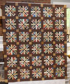 Keeping You in Stitches: {Post Center Wild Geese Finished Fall Quilts, Scrappy Quilts, Quilting Projects, Quilting Designs, Quilting Ideas, Sewing Projects, Quilt Block Patterns, Quilt Blocks, Baby Quilts To Make