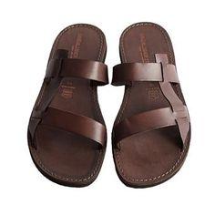Sandalo francescano marrone da uomo