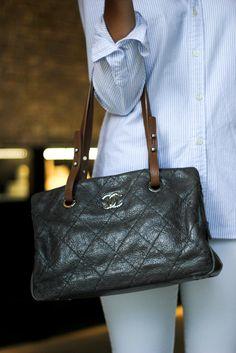 Chanel aged taupe lambskin shoulder bag