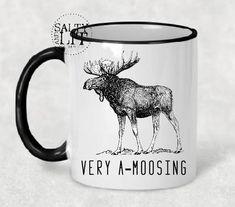 Wedding Mugs, Funny Mugs, Best Friend Mugs and more! Best Friend Mug, Friend Mugs, Gifts For Dad, Fathers Day Gifts, Funny Moose, Moose Decor, Moose Mug, Christmas Moose, Wedding Mugs