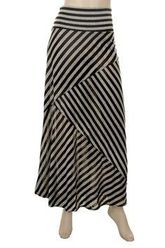Sexy Modest American Fork-Variating Stripe Skirt