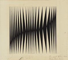 Bridget Riley, Untitled [Study For Hero Series] Cutting black paper placed on white paper in order to teach how contrast can create depth in Op Art, Bridget Riley, Design Graphique, Optical Illusions, Pattern Art, Textures Patterns, Geometric Shapes, Graphic Art, Contemporary Art