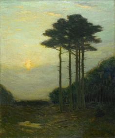 Charles Warren Eaton  The Woodland Sentinels, 1900-10  (Oil on canvas, 24 x 20 inches)  Spanierman Gallery, NYC