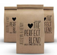 Coffee Bags Wedding Favor Coffee Favors Coffee Cups Kraft