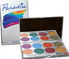 Paradise AQ Palette Face Makeup Body Paint Nuance Basic Tropical Metallic Pastel | eBay