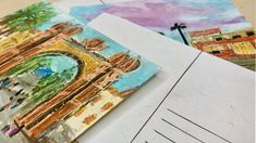 Travel Postcards: Create Your Own • Alina Harvi Draw A Box, Online Art Courses, Travel Photos, Postcards, Really Cool Stuff, Create Your Own, Creative, Travel Pictures, Greeting Card