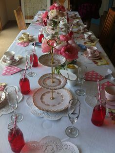 Vintage china for high tea