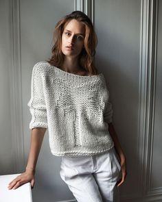 White cotton Sweater Spring Summer Sweater Knit by NatalyZigZag Crochet Cardigan, Crochet Shawl, Knit Crochet, Chunky Knitting Patterns, Knitting Designs, Crochet Patterns, Knitwear Fashion, Knit Fashion, Fashion Outfits