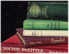 Childhood Classics  (Literary Roost Series) | A painting by Camille Engel, contemporary realist