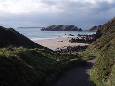 Marloes Sands is an approx. 1.5 kilometres (0.93 mi) long remote sandy beach in Pembrokeshire, Wales, near the village of Marloes.