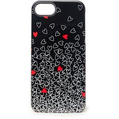 DIANE VON FURSTENBERG iPhone 5 Plastic Mantra Case (26 CAD) found on Polyvore featuring women's fashion, accessories, tech accessories, phone cases, phone, cases, iphone cases, outline falling hearts red, red iphone case and iphone cover case