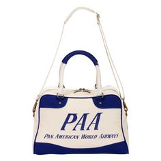 Pan American World Airways. Outdated? To some but I think the royal blue again white is a bright contrast that can go with a lot of things. I like it, would definitely add it to my collection of purses.