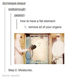 How to have a flat stomach Doctor Who Style