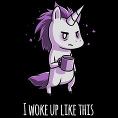 Morning Unicorn T-Shirt TeeTurtle
