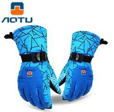 AOTU Men Women Ski Gloves Snowboard Gloves Snowmobile Motorcycle Riding Winter Gloves Windproof Waterproof Snow Gloves