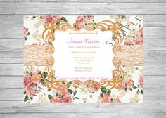 Shabby Chic Invite Burlap and Lace Shower by TwoAngelsDesigns