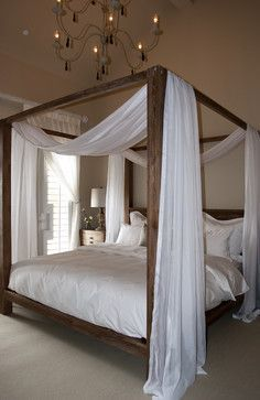 Canopy Bedroom Sets, Canopy Bed Frame, Cozy Bedroom, Bedroom Decor, Bedroom Ideas, Canopy Beds, Bed Ideas, Canopy Curtains, Bedroom Bed