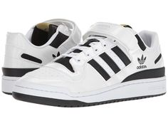 new product 93a5f 0b815 adidas Originals Forum Lo Men s Classic Shoes Footwear White Core  Black Gold Metallic Los