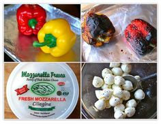 The Italian Dish - Posts - Roasted Pepper and Mozzarella Bites