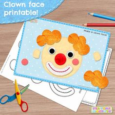 Your child can play at making a funny clown face with this week´s free printable! Great for practising parts of the face words. Available in both colour and black and white.