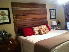 Barn wood headboard