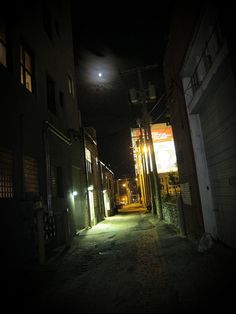 The back alley behind JP Wine Bar, I took this walking home with my point-n-shoot.