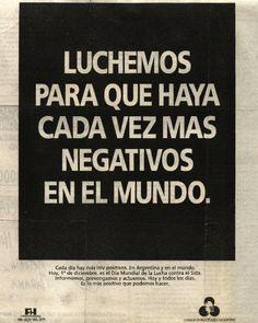 """""""Día del Sida -Negativos-""""1992"""