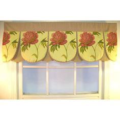 @Overstock - These traditional valances for windows add charm to a kitchen window. The bright gold background with paprika colored peonies are colorful and fun. Hang them in the kitchen to add color with a traditional twist that will stay stylish for years.http://www.overstock.com/Home-Garden/Ashton-Peony-50-inch-Valance/6053351/product.html?CID=214117 $61.99