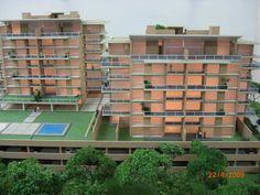 Maqueta. Detalle del jardin y los estacionamientos maquetasquevedo@yahoo.com