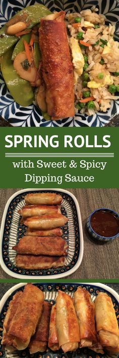 Spring Rolls | Sweet & Spicy Dipping Sauce