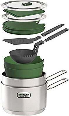Amazon.com : Stanley Adventure Two Pot Prep and Cook Set, Stainless Steel : Sports & Outdoors