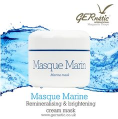 Marine Mask is a true antidote against cellular fatigue. A soothing, astringent and revitalising cream mask with anti-ageing properties. #gernetic #gerneticuk #skincare #beautytherapy #beautytreatments #beautysalon #bestproducts #facemask #madeinfrance #antiageing #explore Anti Aging Mask, Wrinkled Skin, Face Products, Ageing, Marines, Skincare, Explore, Cream, Coming Of Age