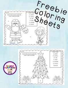 Freebie Coloring Sheets for Polar Express or Christmas