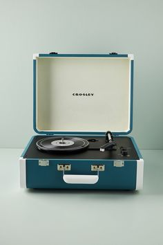 Portable Record Player, Vinyl Record Player, Vinyl Records, Anthropologie Christmas, Anthropologie Uk, All Gifts, Gifts For Him, Home Office, Music Lovers