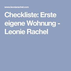 Checkliste: Erste Eigene Wohnung   Leonie Rachel