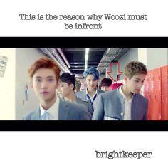 the reason why jihoon is always infront #Seventeen #Woozi #Mansae