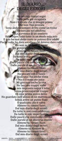 Michele Bravi - Il diario degli errori testo || Sanremo 2017 || #MicheleBravi #IlDiarioDegliErrori #AnimeDiCarta #Sanremo_2017 #musica_italiana #frasi #quotes #testi_canzoni