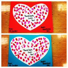 Pre-K Thumbody LovesYou project for Valentines Day