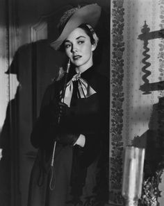 Jennifer Jones in Madame Bovary, 1949 Jennifer Jones, Timeless Beauty, Old Hollywood, Golden Age, Swimming Pools, Goth, Ruffle Blouse, Lady, Loneliness