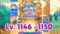 Bubble Witch Saga 2 Level 1146 - 1150 (1080p/60fps)