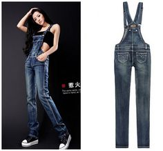 faff5f253484 Find More Jeans Information about denim overalls for women jeans pants  Korean Siamese pants ladies jeans rompers womens jumpsuit denim playsuits  and ...