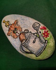#taşboyama #handmade #handpainted #vsco #vscocam #cat #catlover #catsofinstagram #portakalcicegimoda Şaşkınım ben şaşkın