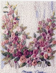 This is a wonderful art form. So talented! ribbon embroidery web4 - ribbonwork - Álbuns da web do Picasa