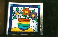 before I got into mosaics, I made this,at my stained glass night classes!