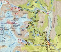 Fitz Roy map with hiking trails