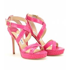 Some pink reptilian sandals.  Thanks Jimmy (Choo)!