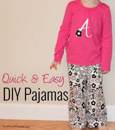 Easy DIY Pajamas