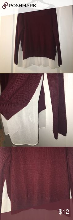 Lightweight burgundy sweater Super comfy lightweight sweater EUC a.n.a Tops Sweatshirts & Hoodies