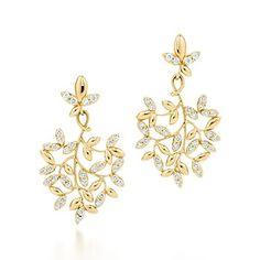 Orecchini pendenti Olive Leaf Paloma Picasso® in oro 18k con diamanti, piccoli.